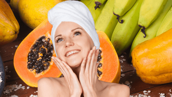 Gesichts-Peeling mit Banane und Papaya