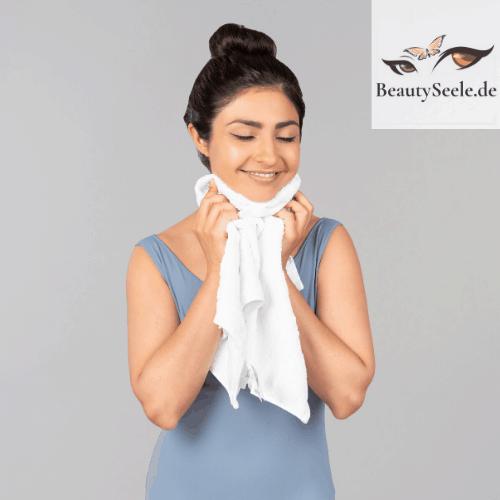 Unreine Haut Ursachen Handtuch
