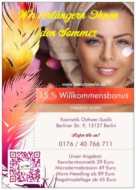 Herbstangebot - Termin online Buchen Kosmetikstudio Berlin Pankow 2020